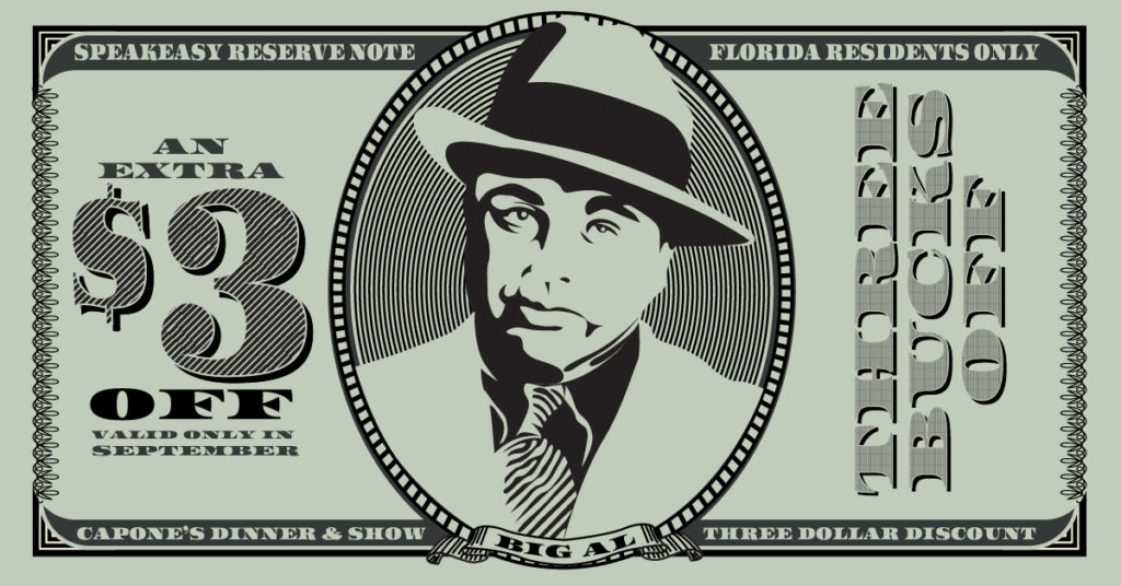 Florida Resident Discounts at Capone's