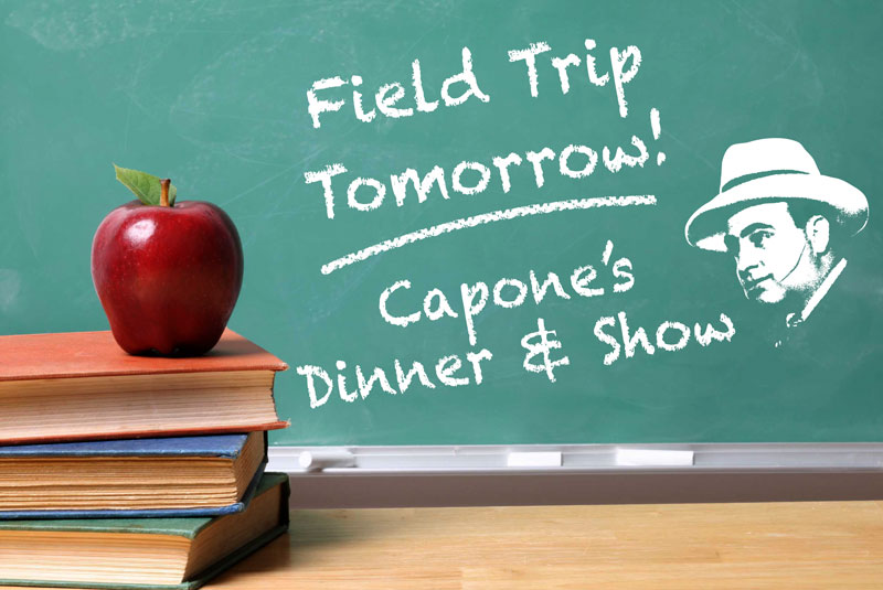 A student group tour at Capone's include discounted tickets.