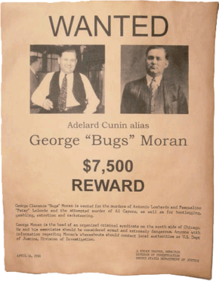 Wanted George 'Bugs' Moran