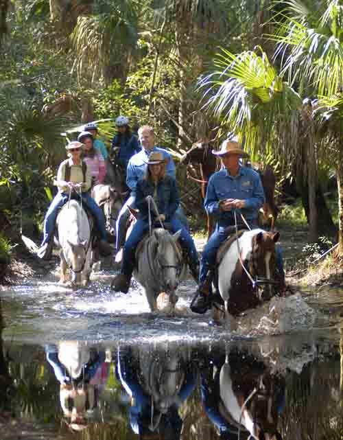 Florida EcoSafaris Forever Florida horseback riders