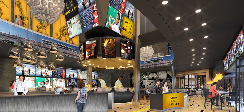 NBC Sports Grill & Brew interior