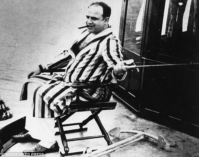 Photo of Al Capone fishing.