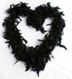 Black feathered boa