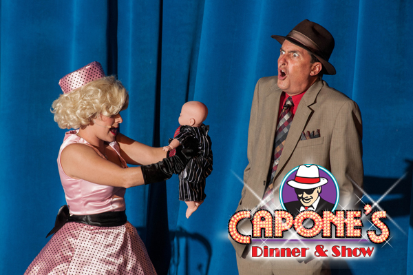 Capone's Characters at Mother's Day dinner show in Orlando