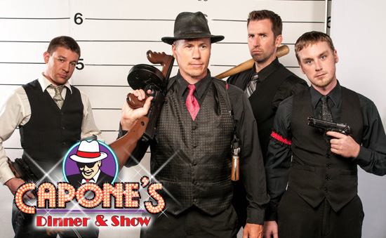 Orlando dinner show photo of Capone's mobsters