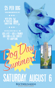 Dog Day of Summer at Bok Tower Gardens