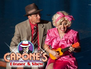 Characters sing a duet at Orlando Dinner Show