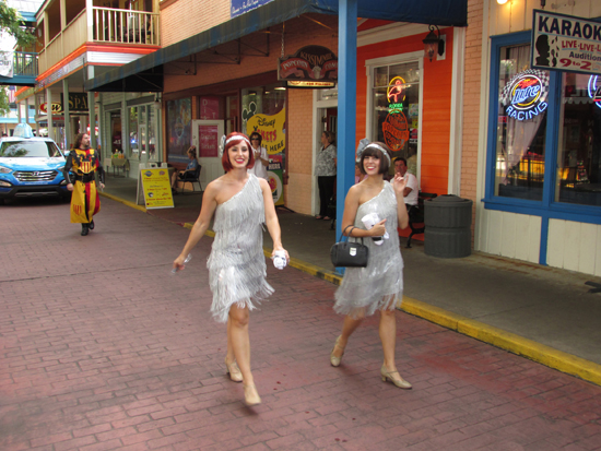 Capone's Dinner & Show flapper girls at Old Town in Kissimmee