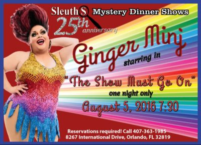 dinner show talent Ginger Minj