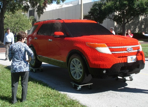 ford explorer made of legos arrives in central florida al 39 s blog. Black Bedroom Furniture Sets. Home Design Ideas
