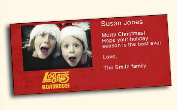 Logan's custom gift card
