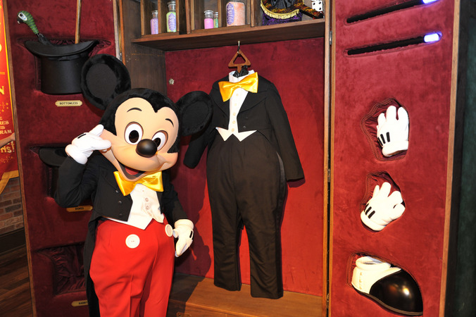 Mickey Mouse meets guests in Town Square Theater