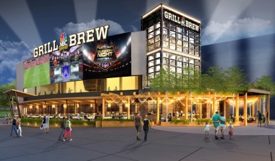 drawing of new NBC Sports Grill & Brew