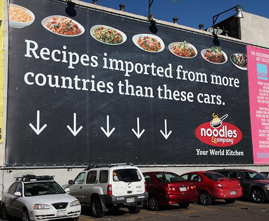 Noodles & Company billboard