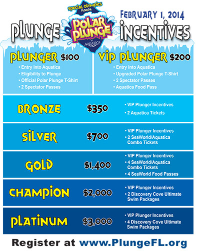 Polar Plunge incentives
