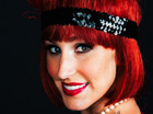 Red head flapper girl