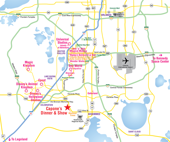 Attractions Map Orlando Area Theme Park Map alcapones – Orlando Florida Tourist Attractions Map