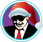 Capone's Dinner Show icon using Santa Hat