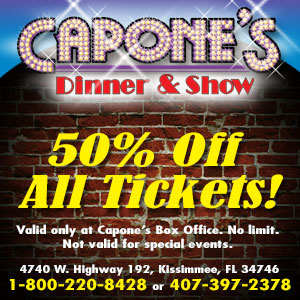 Capone's Dinner & Show - Half off all tickets