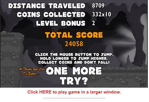 Online game score of 24,058 - can you beat it?