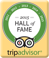 Trip Advisor Hall of Fame Award Winner