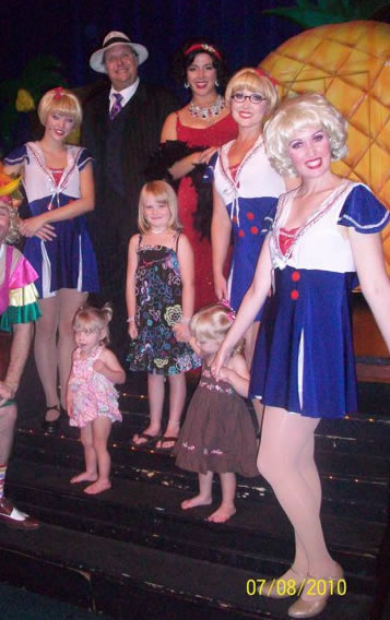 Little girls enjoy the show